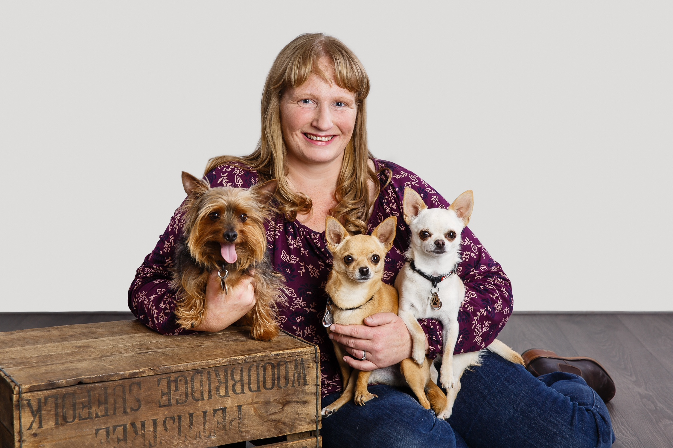 Lorraine with dogs